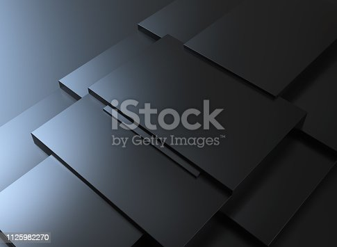 istock Abstract background, black cubes 1125982270