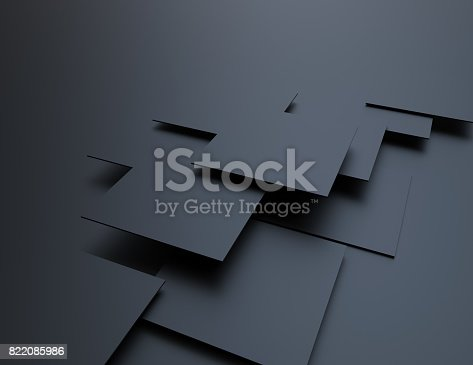 istock Abstract background, black cubes 822085986