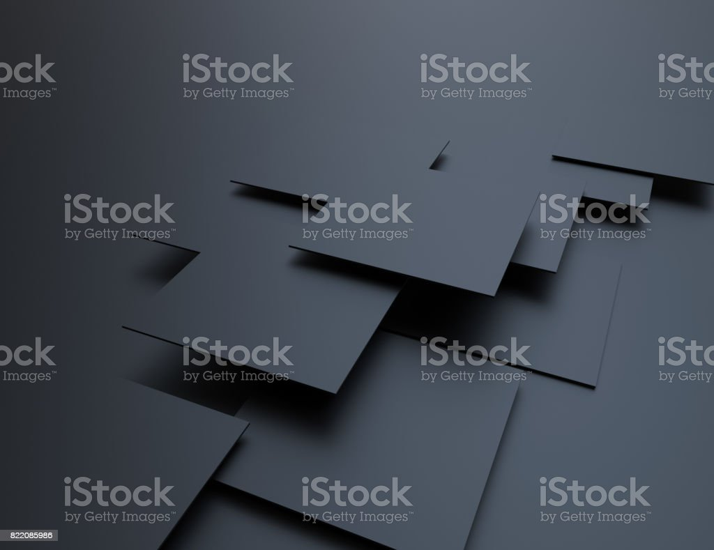Abstract background, black cubes stock photo