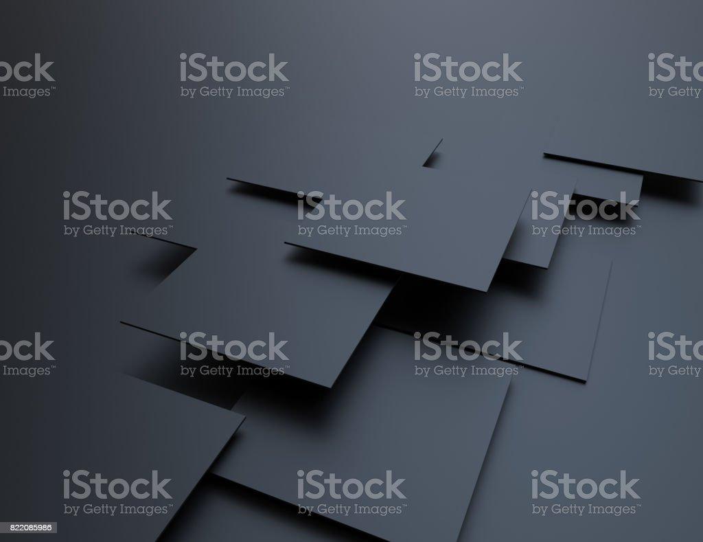 Cubos de abstrato, preto - foto de acervo