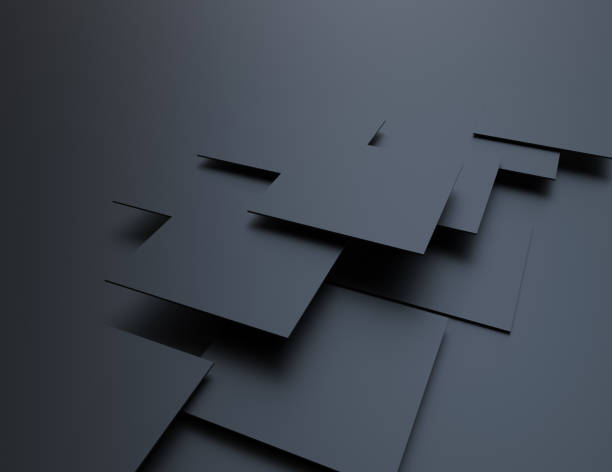 abstract background, black cubes - cube shape stock pictures, royalty-free photos & images