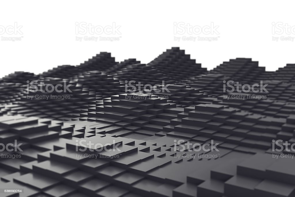 Abstract background, black metal cubes in the form of a stock photo