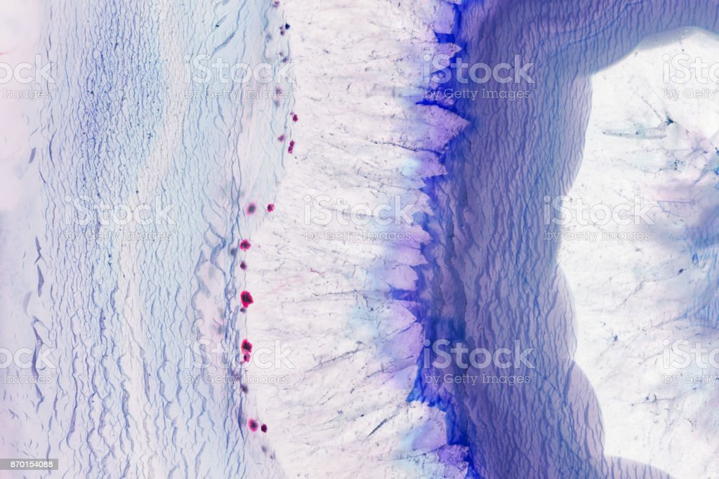 Abstract background - blue agate mineral cross section stock photo