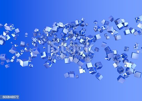 926309124istockphoto Abstract background. Blue cubes on a blue background 500846572