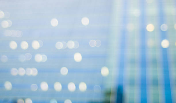 abstract background blur bokeh reflection of building - soft focus stock photos and pictures