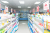istock abstract background blur shelf with medicines and other goods in pharmacy store 970766012