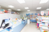 istock abstract background blur shelf with medicines and other goods in pharmacy store 970766014
