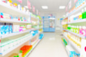 istock abstract background blur shelf with medicines and other goods in pharmacy store 978360188