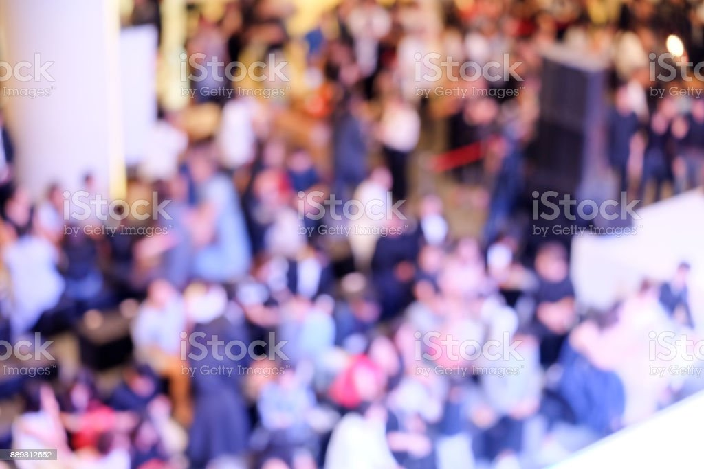 Abstract background blurring a lot of people in events, Bird eye views stock photo