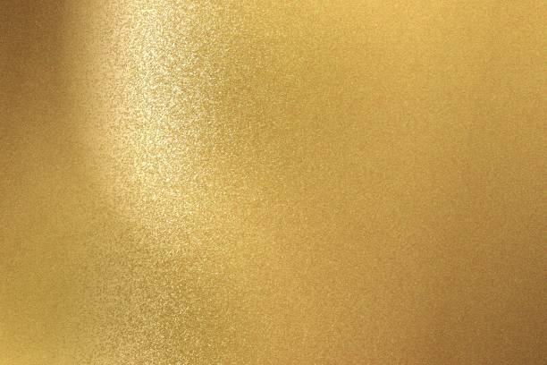 abstract background, brushed gold steel wall texture - gold stock pictures, royalty-free photos & images