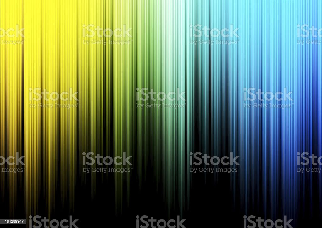 Abstract background colored in yellow, green and blue stock photo