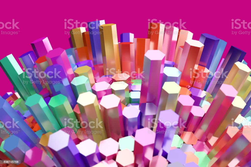 abstract background colorful hexagon bar stock photo