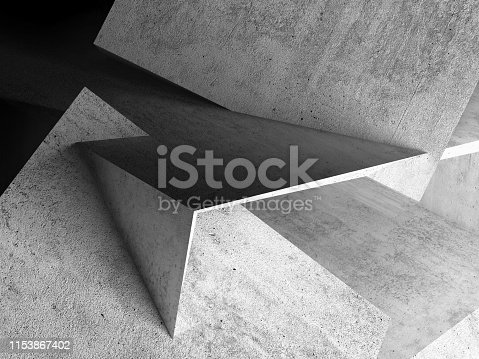 istock Abstract background, concrete 3d 1153867402