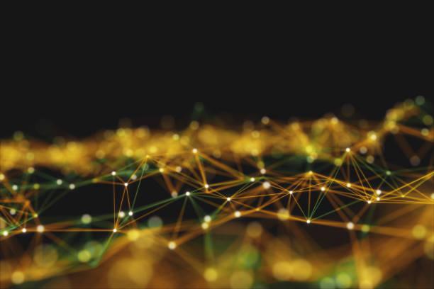 zusammenfassung hintergrund, verbindung und linien der technologie. - datenknoten stock-fotos und bilder