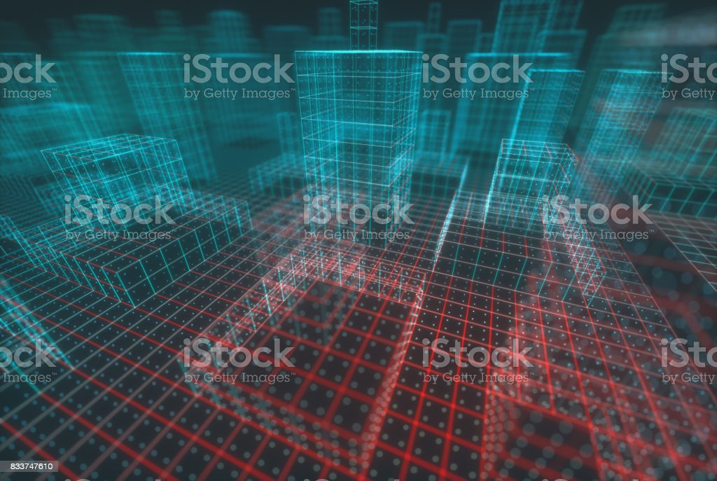 Abstract Background Connections Building stock photo