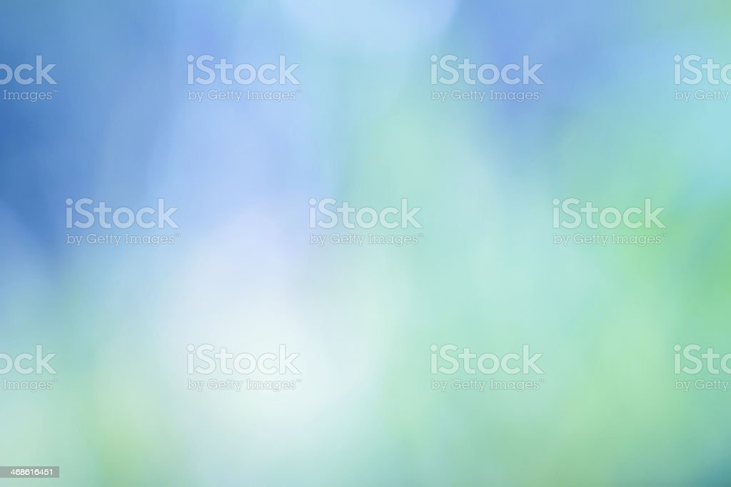 Abstract background, defocused green and blue stock photo