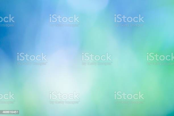 Photo of Abstract background, defocused green and blue