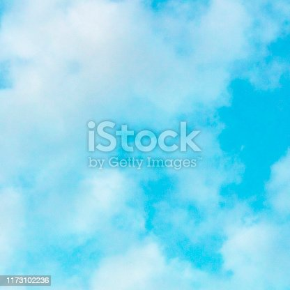876037346 istock photo Abstract background, design template with copy space. Turquoise blue sky with soft clouds 1173102236