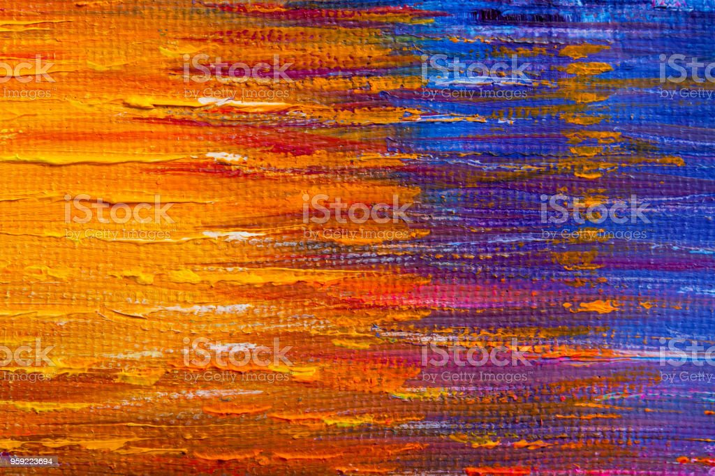 Abstract background drawn by oil paints stock photo