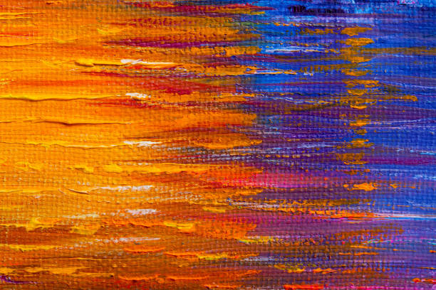 abstract background drawn by oil paints - saturated color stock pictures, royalty-free photos & images