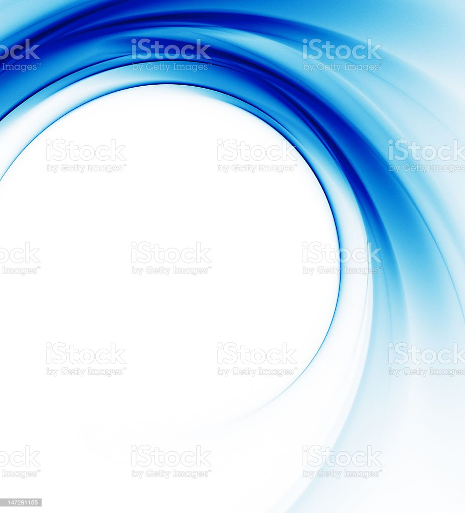 Abstract background featuring light and dark blue waves stock photo