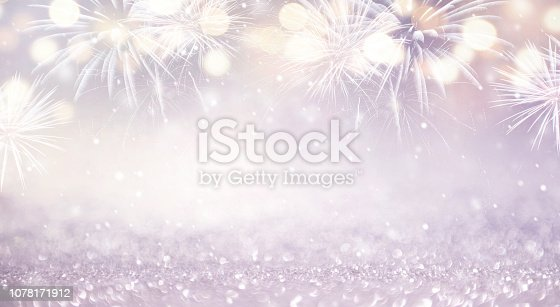969086552istockphoto Abstract background fireworks holiday. 1078171912