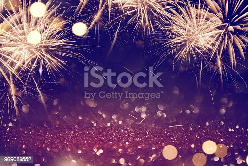 istock Abstract background fireworks holiday. 969086552