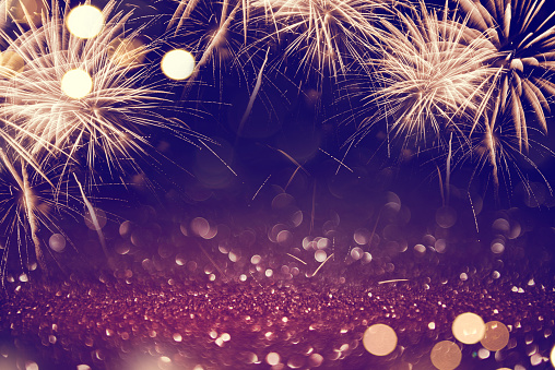Abstract Background Fireworks Holiday Stock Photo - Download Image Now
