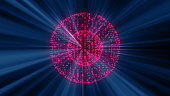 Abstract background from futuristic bright disco ball. 3D rendering