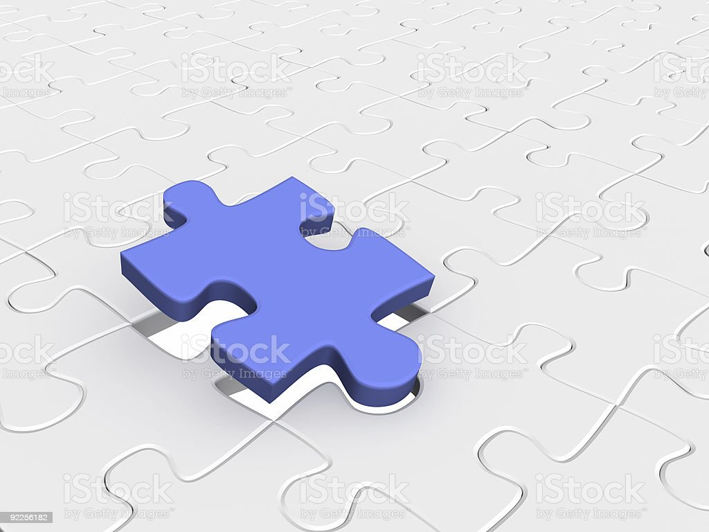 Abstract background from parts 3d  puzzle royalty-free stock photo