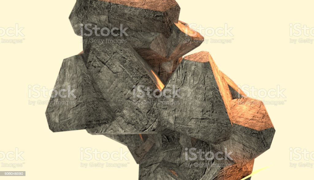 Abstract background from stones stock photo