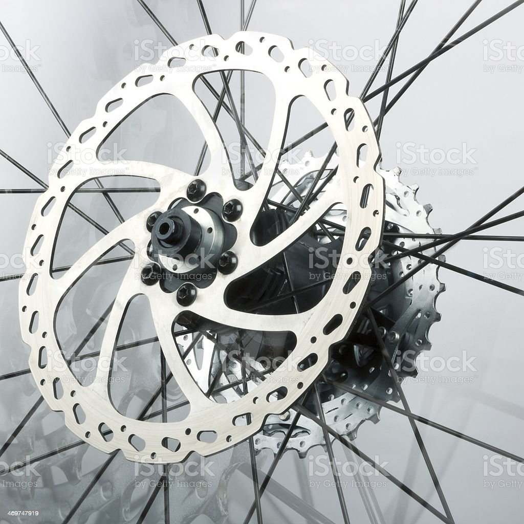 Abstract background from the bike parts stock photo