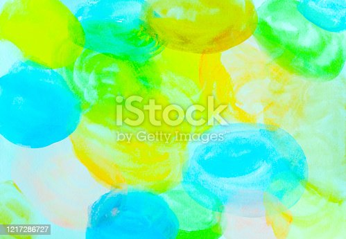 istock Abstract background from water color painted on paper in circle shape. 1217286727