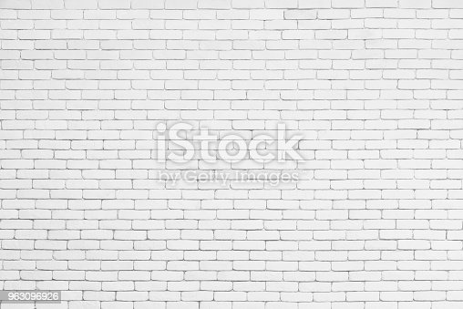 Abstract background from white brick pattern wall. Brickwork texture surface for vintage backdrop.