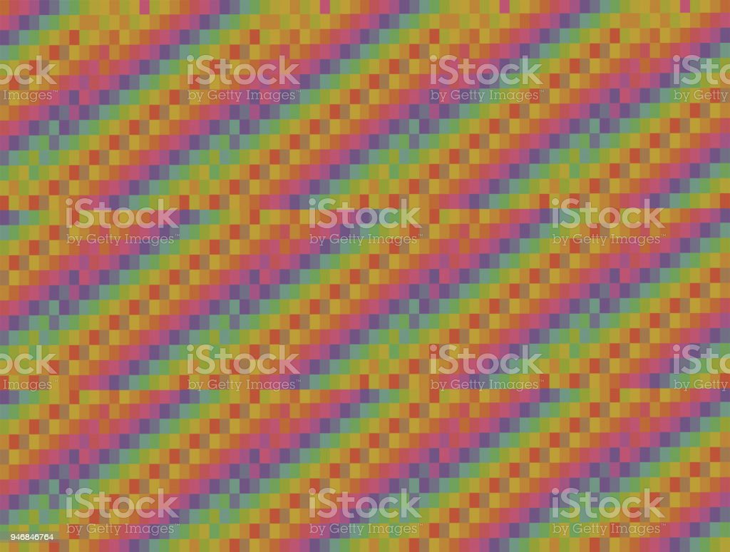 abstract background graphic colored squares stacked in diagonal webs of three pieces stacked with shift stock photo