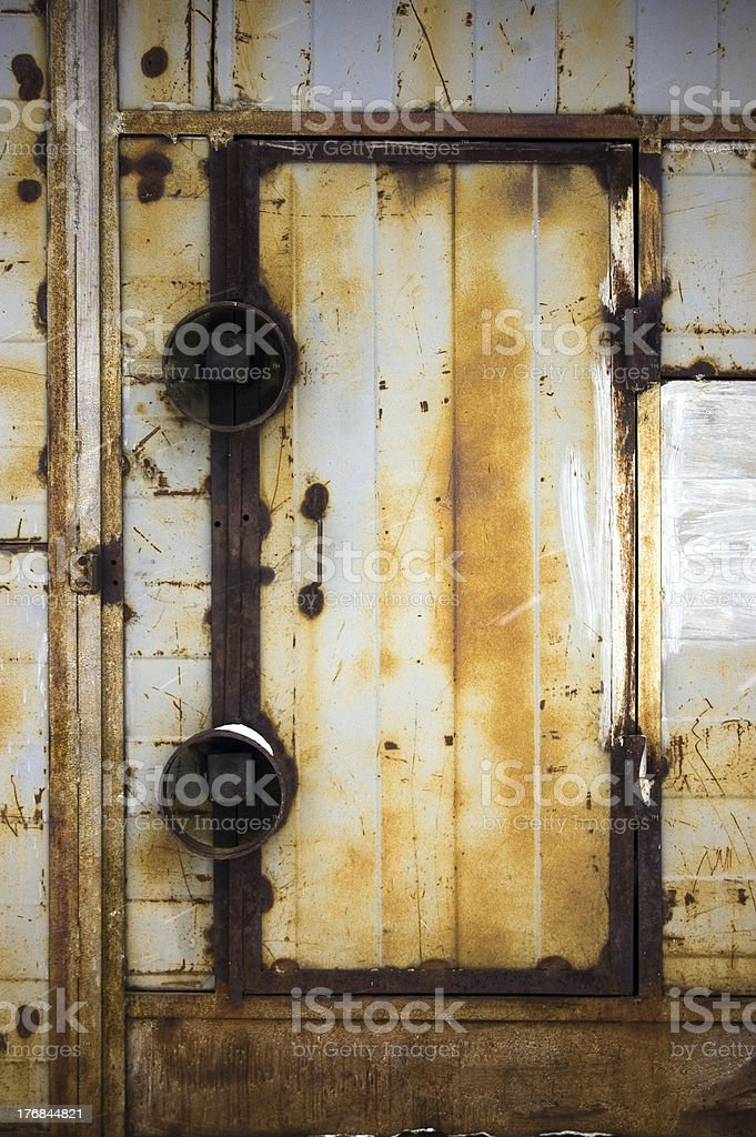 abstract background / grunge metal door royalty-free stock photo