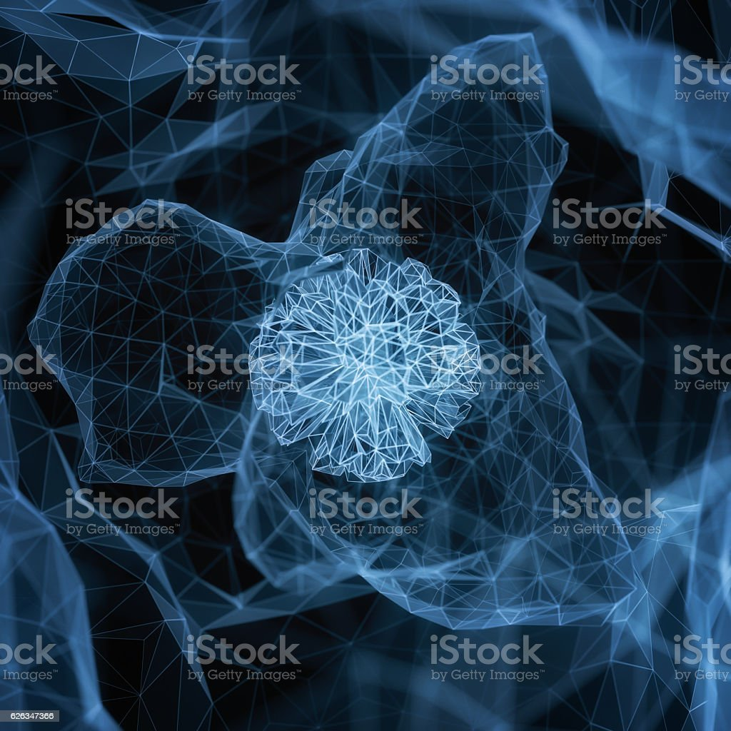 Abstract background hologram stock photo