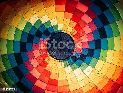 istock Abstract background, inside colorful hot air balloon 979597634