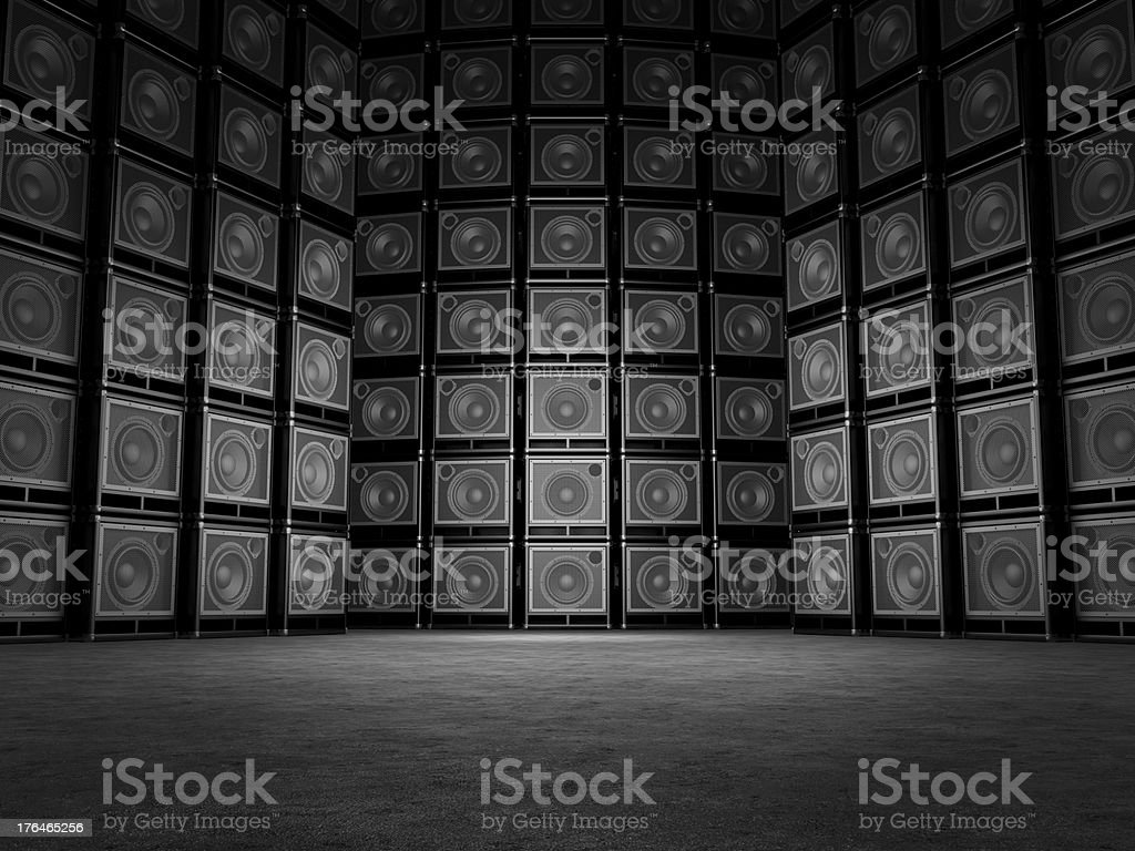 Abstract background is in guitar amps stock photo