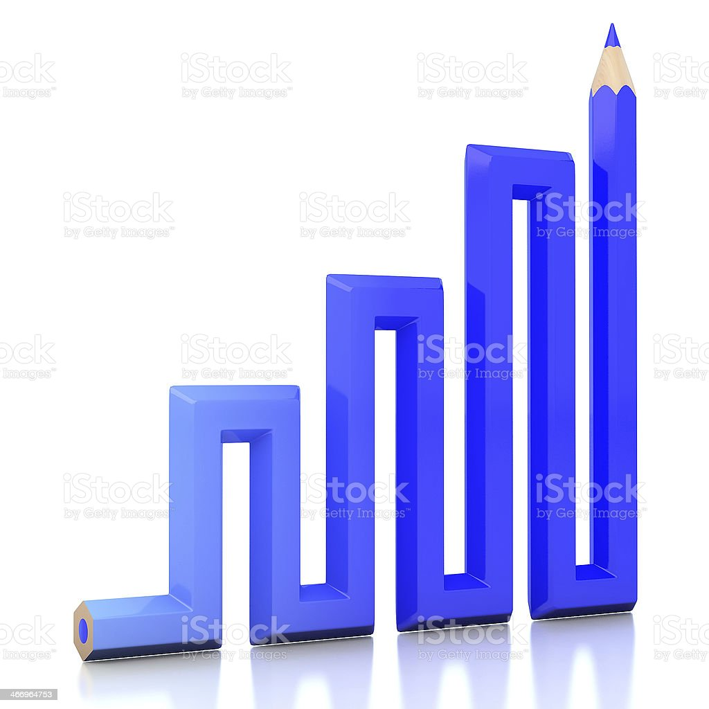 Abstract background line of colour pencil illustration royalty-free stock photo