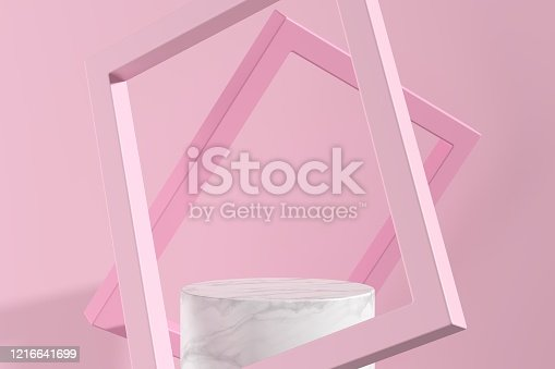 1129130415 istock photo Abstract background. mock up scene for product display. 3d render 1216641699
