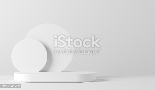 1129130415 istock photo Abstract background. mock up scene for product display. 3d render 1216641732