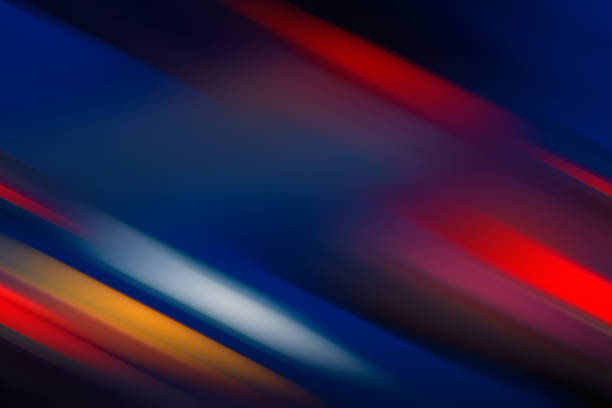 Abstract Background - Multicolored Diagonal Lines stock photo