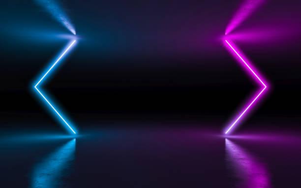 abstrakcyjne tło neonowe światło - neon zdjęcia i obrazy z banku zdjęć