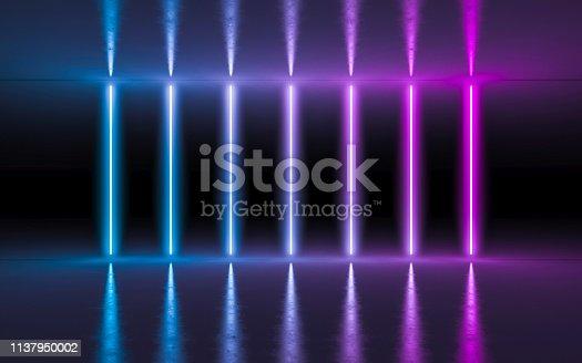 istock Abstract background neon light 1137950002