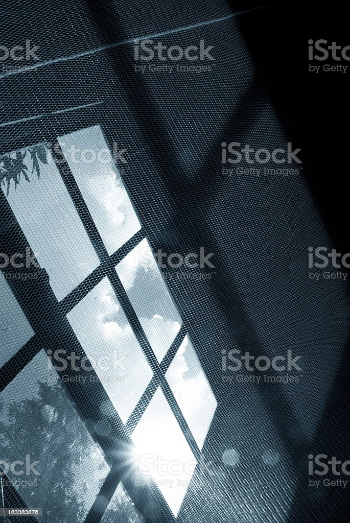abstract background netting pattern and window royalty-free stock photo