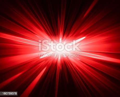 istock Abstract background of a red starburst 180759378