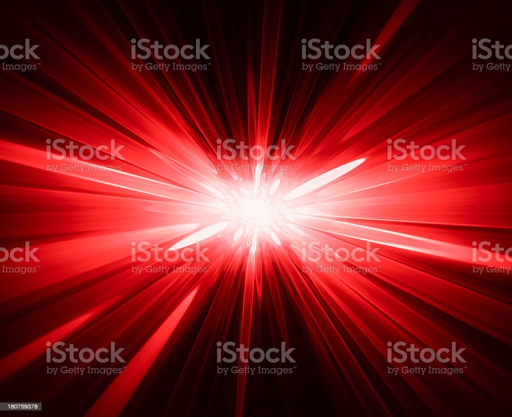 Abstract background of a red starburst stock photo