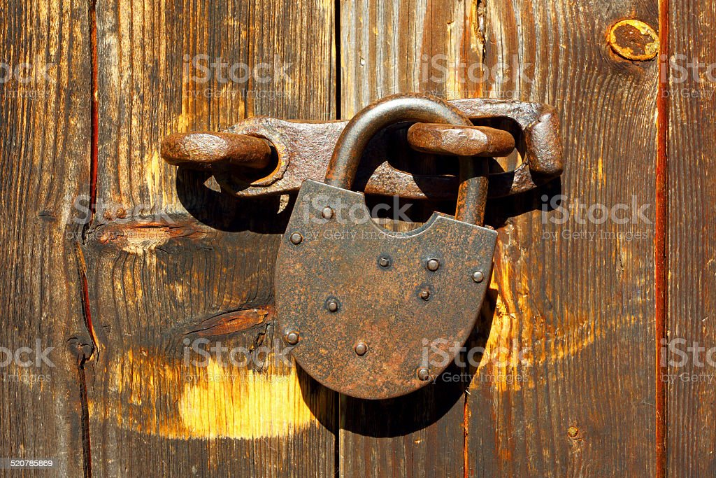 Abstract background of a wooden door. stock photo