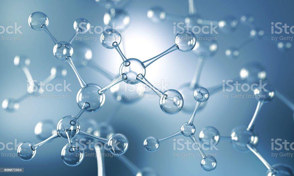 Abstract background of atom or molecule structure royalty-free stock photo